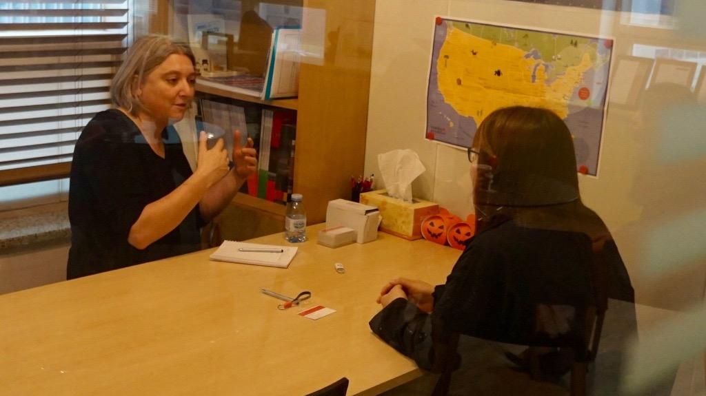 복합 전공 PPLE를 희망하시는 분은 Sally 교장 선생님과 1대 1 인터뷰도 진행했어요.